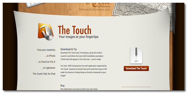 The Touch使い方2