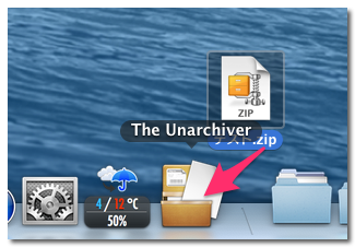 The Unarchiver 使い方