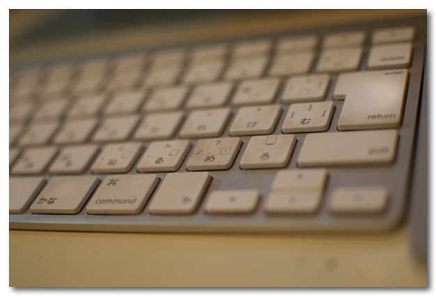 Apple Wireless keyboard 手垢掃除2