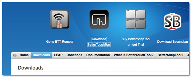 Better Touch Tool 使い方