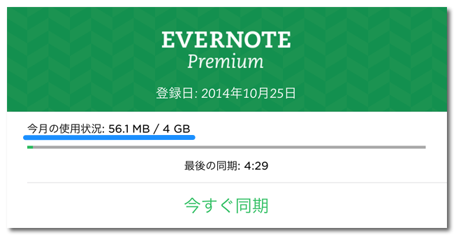 Evernote 4GB