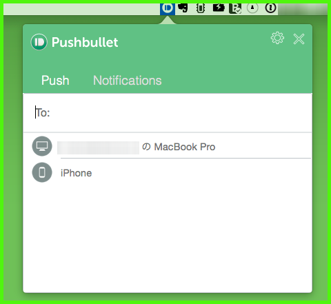 Pushbullet iPhone 使い方2