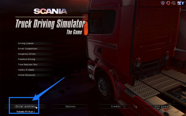 Scania Truck Driving Simulator 右ハンドル 変更